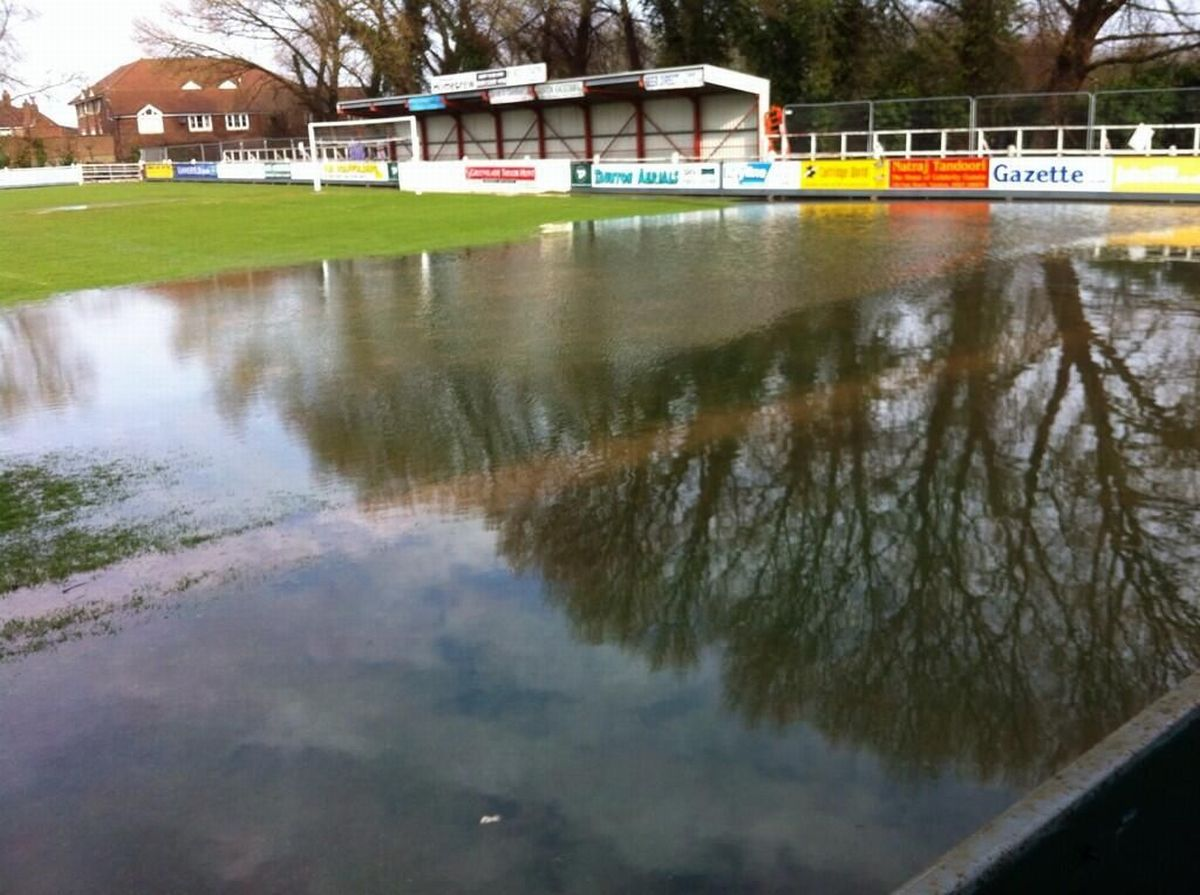Flooding at the ground last week. PHOTO: Twitter