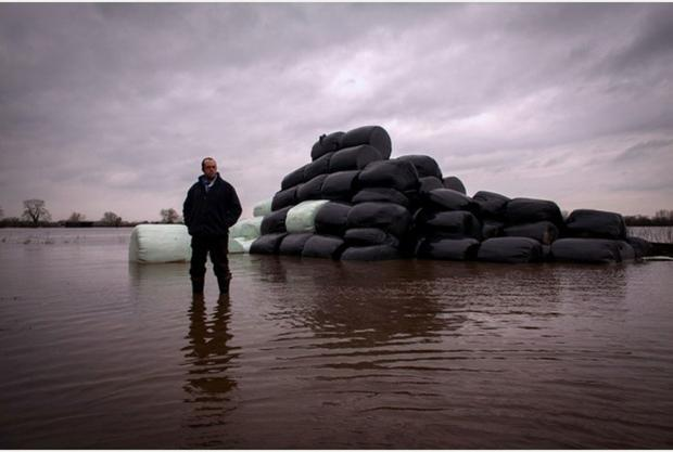 Farmer James Winslade was one of those seriously damaged by the floods.
