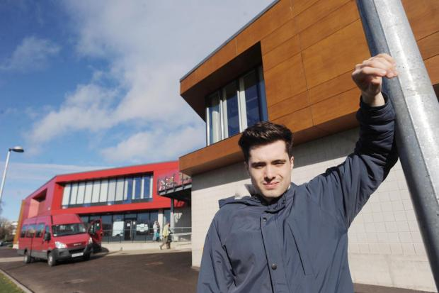 Tom Yeo outside the Bridgwater YMCA where he planned to hold the music festival