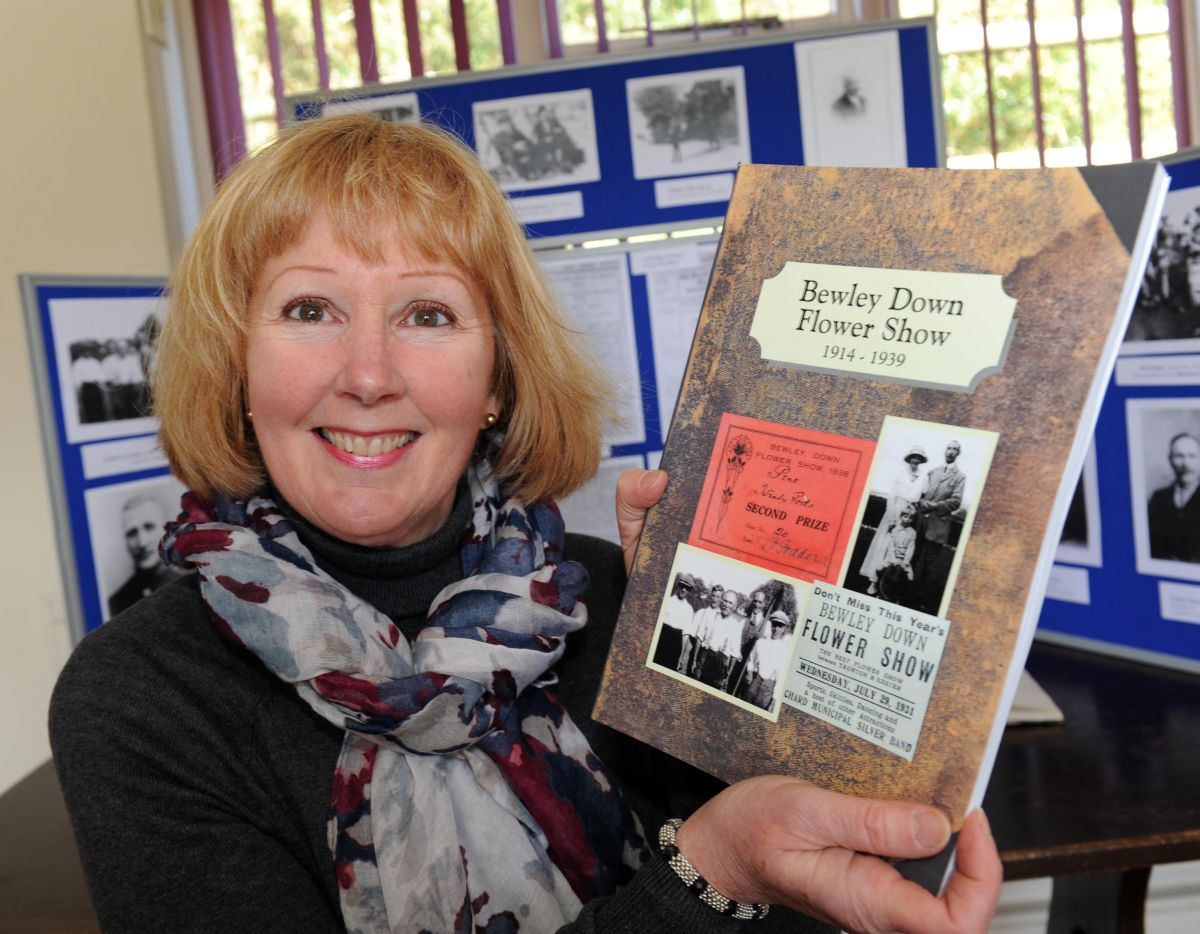 MARJIE Dorling with her book. PHOTO: Geoff Hall