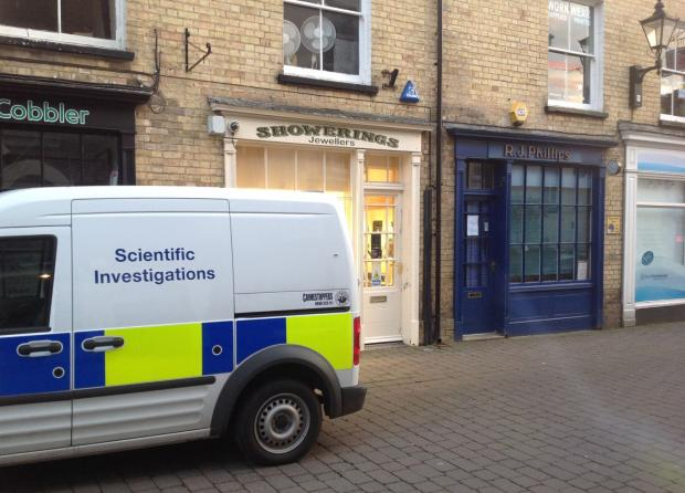 POLICE investigating at Showerings jewellery store in Taunton on Saturday March 1.