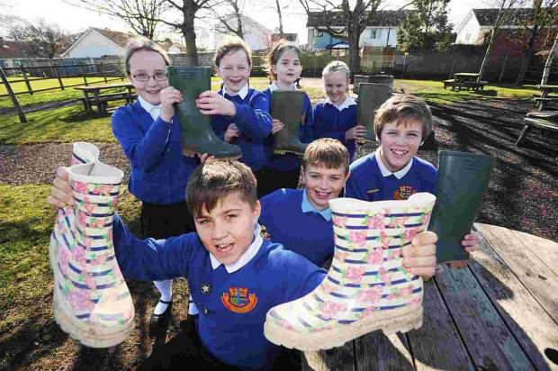 Cannington kids don wellies to support Somerset Flood Appeal