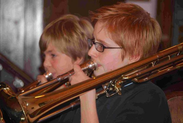 Church concert for Mullion School brass band