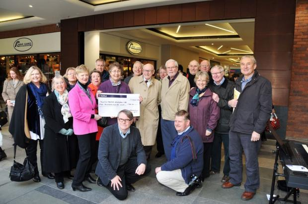 This is The West Country: MEMBERS of the Taunton Association of Performing Arts present the cheque to Taunton Theatre