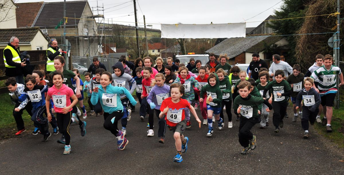 Combe St Nicholas runners swell school funds
