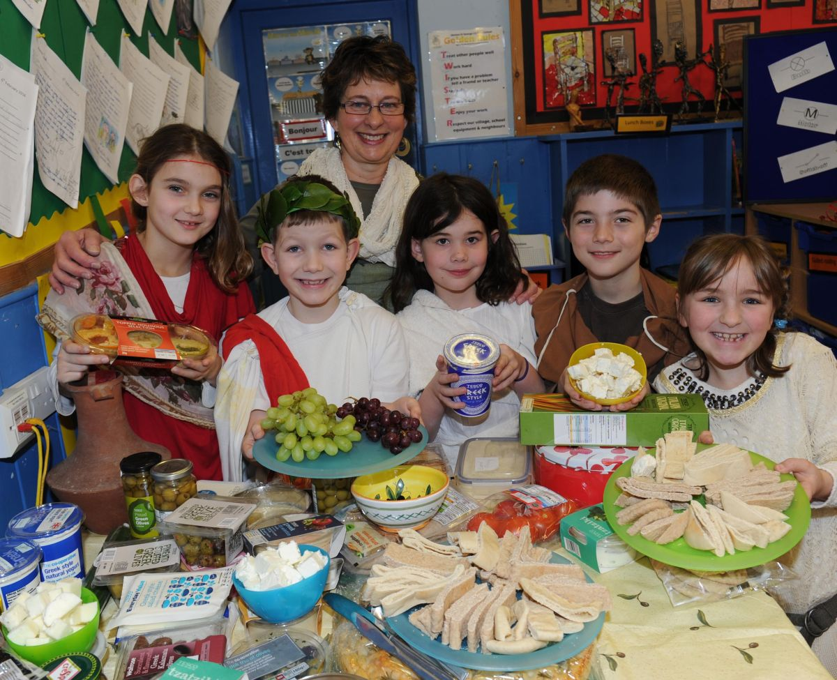 Hinton St George children go back in time for ancient Greek day