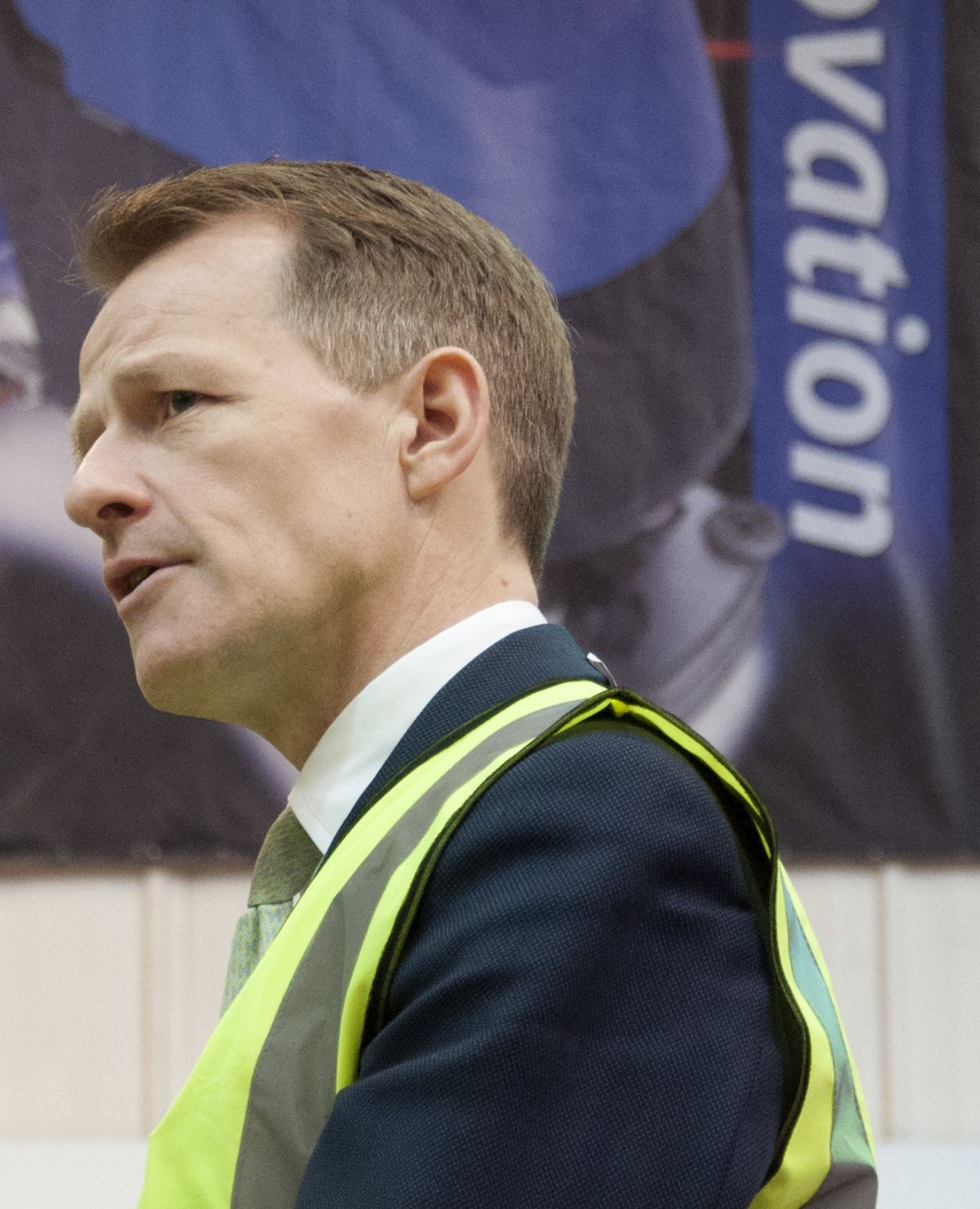 DAVID Laws MP during his visit to N