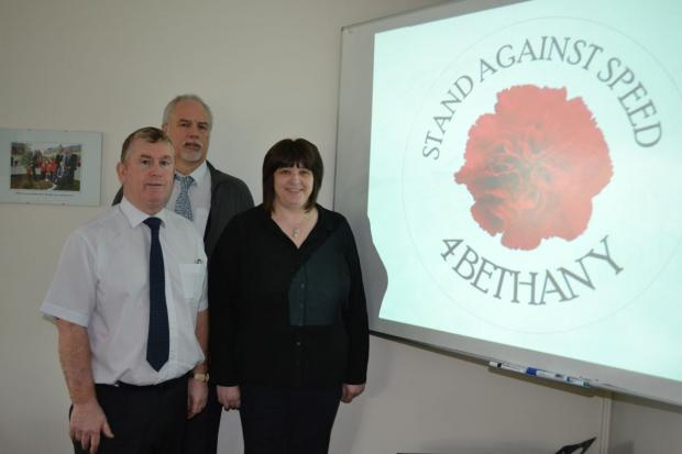 ORGANISERS of the driver safety awareness training: Paul Durkin and Steve Fowlie with Helen Adams. PHOTO: Submitted.