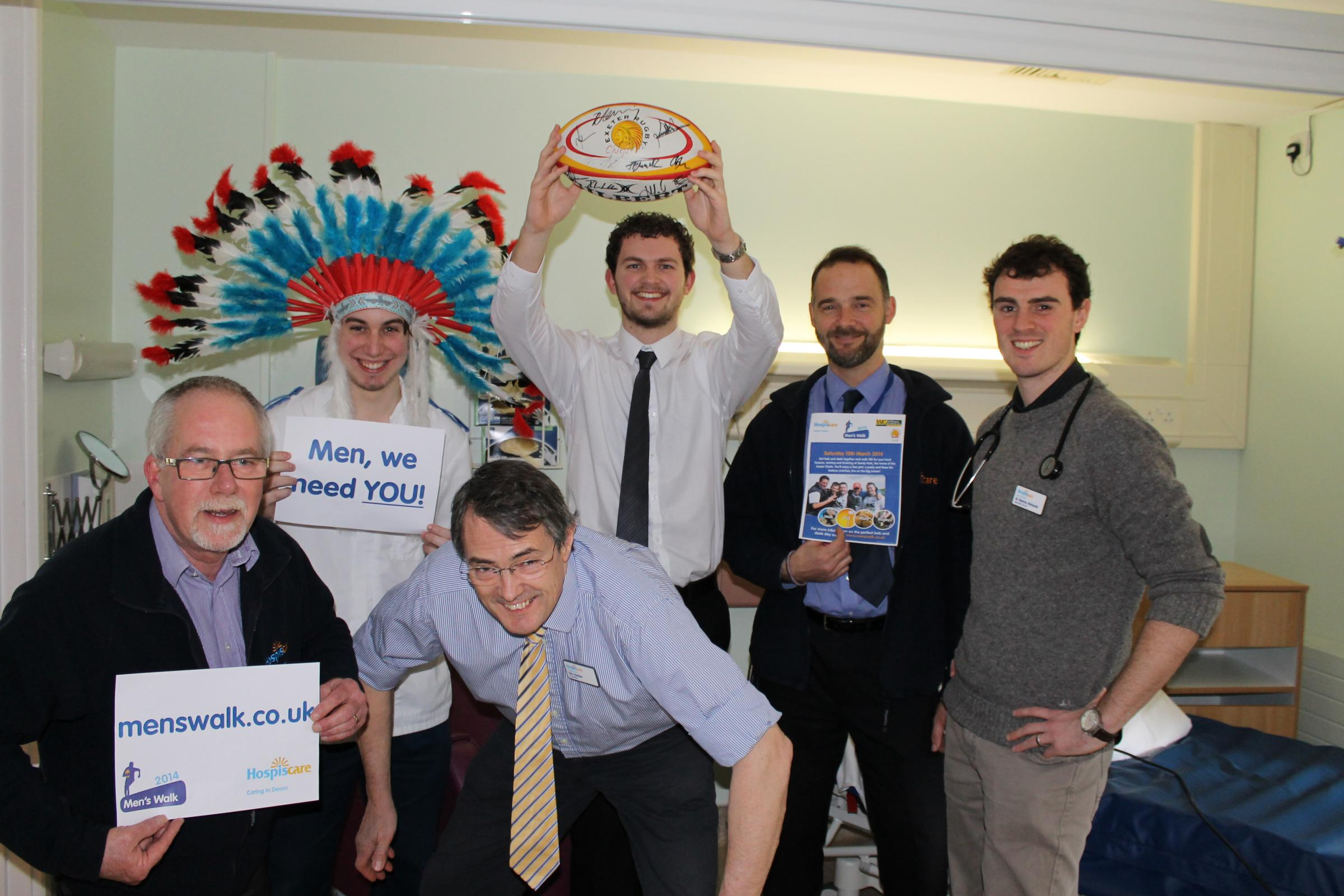 Medical men join walk appeal