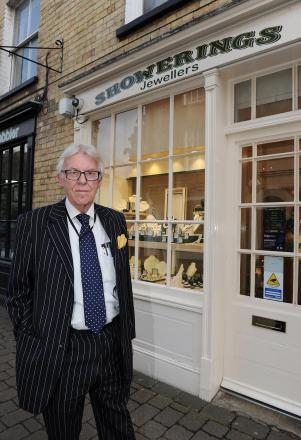 Life-long jeweller Robert Lodge, owner of the Showerings jewellers which came under attack last week.