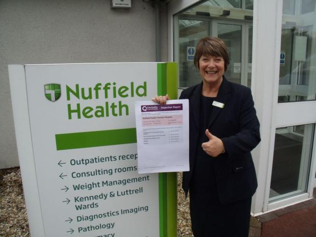 This is The West Country: Matron Joy Dyer with the CQC report.