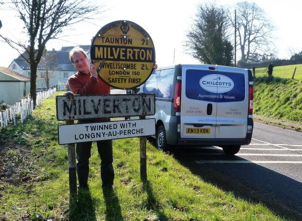 Journey into the past as historic Milverton sign goes up for sale