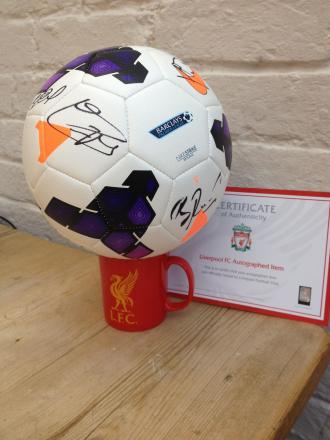Your chance to win a ball signed by the Liverpool football squad