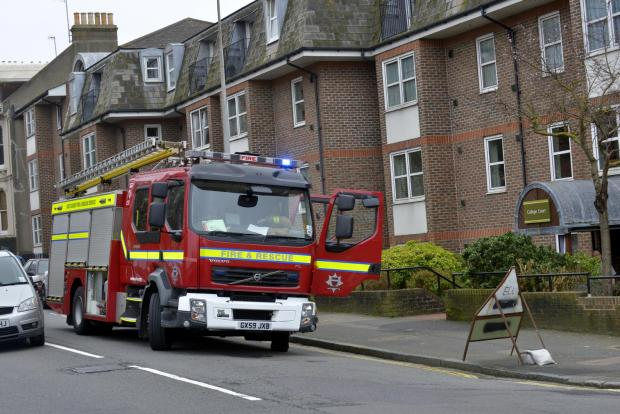 This is The West Country: Smoke inhalation victim taken to hospital after Minehead fire