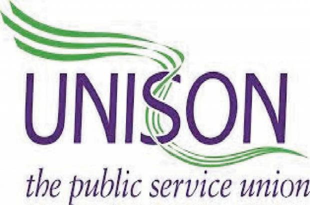 Unison members take part in 'fair pay' campaign