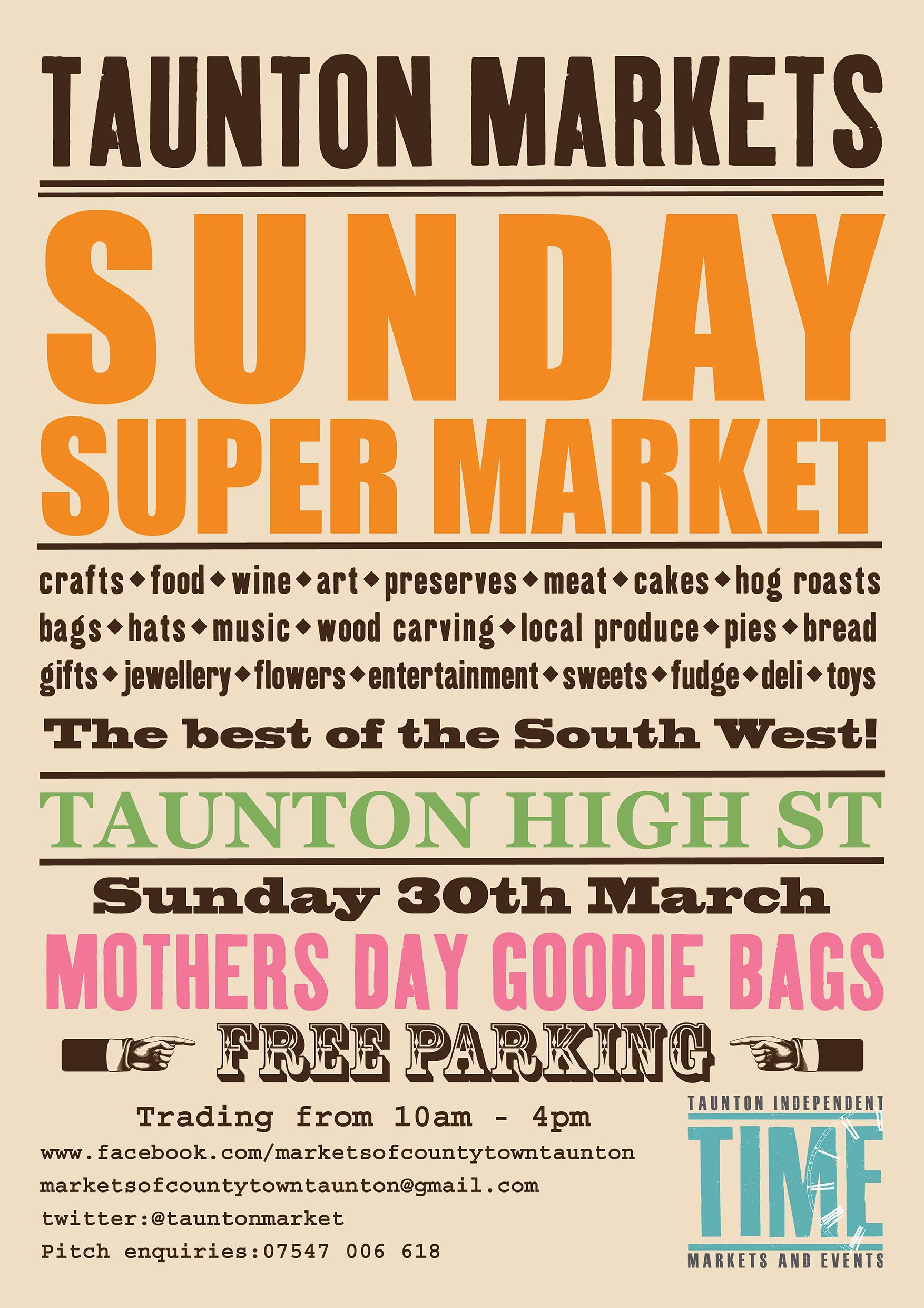 Sunday Super Market in Taunton on Mother's Day
