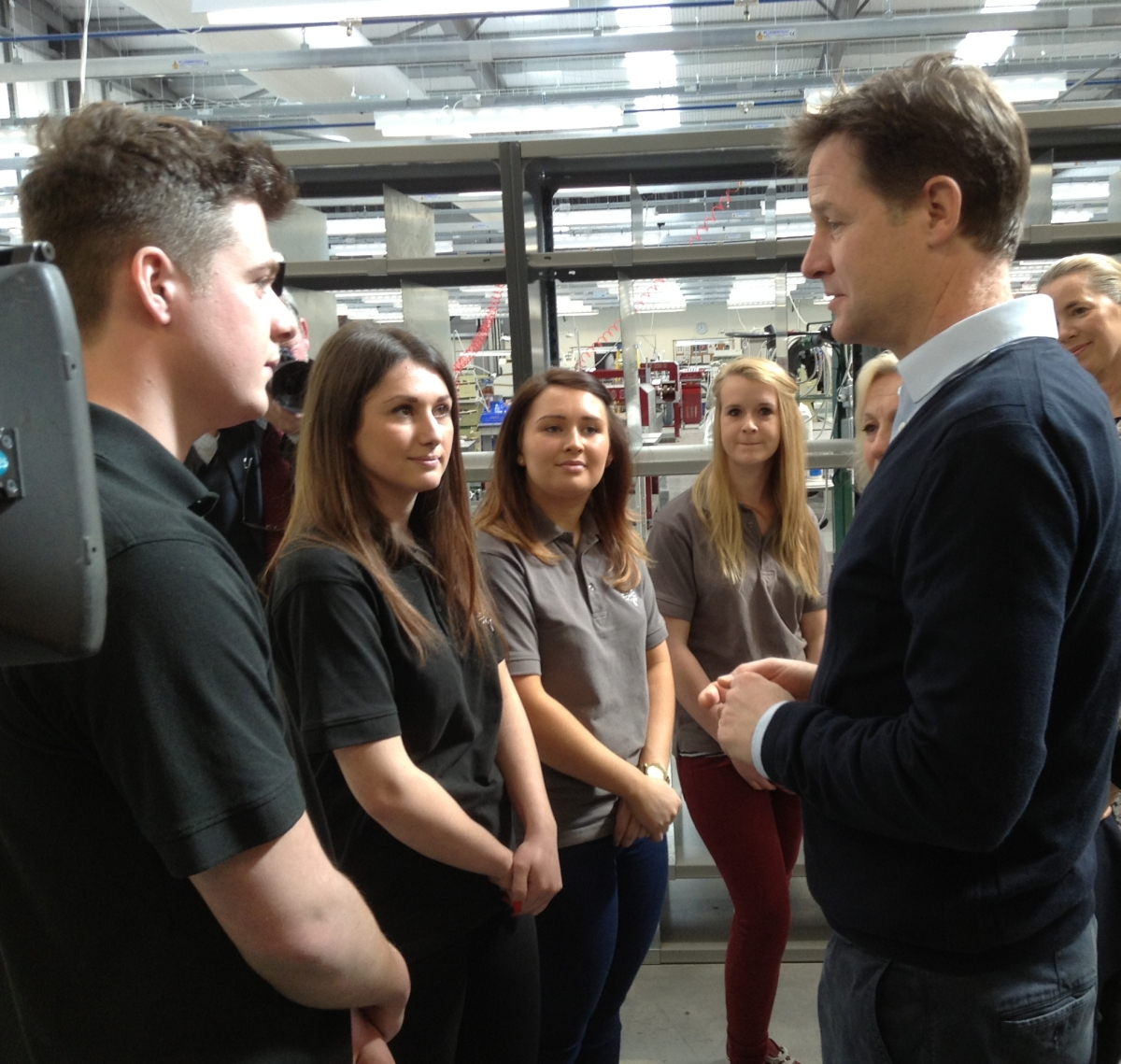 Deputy PM visits Bridgwater's Mulberry factory