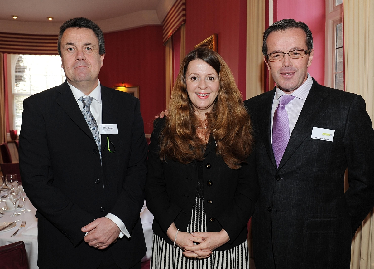 Mike Rogers, Jayne Turner and Richard Haste at the event.