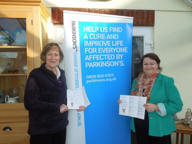 JUSTINE Baker and Linda Bishop, supporting Parkinson's Awareness Week. PHOTO: Submitted.