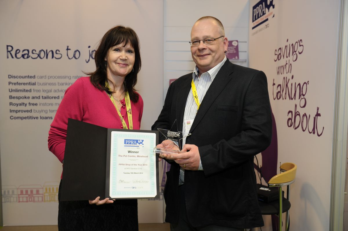 PETER receiving his award from Janine Tozer, the PPRA Chairman. PHOTO: Submitted.