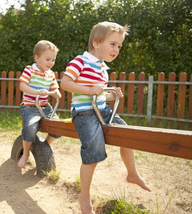 Child Impales foot on seesaw in Dunster