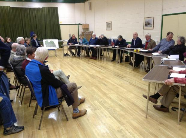 This is The West Country: North Petherton Town Council discuss the planning application at North Petherton Community Centre.