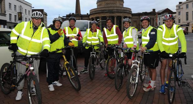 This is The West Country: The cyclists ready for the Neon Bike Ride in Bridgwater