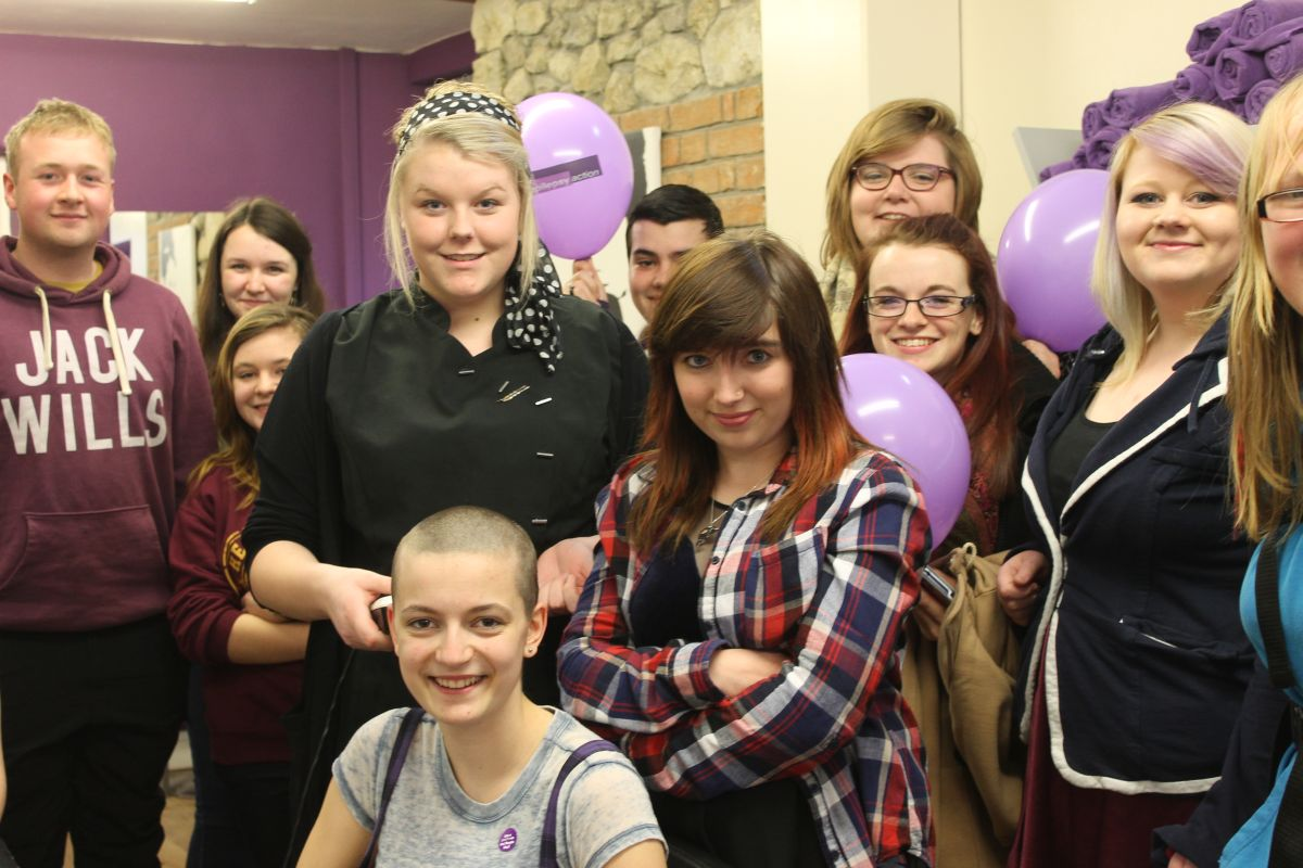 Chard teenager raises £700 from head shave