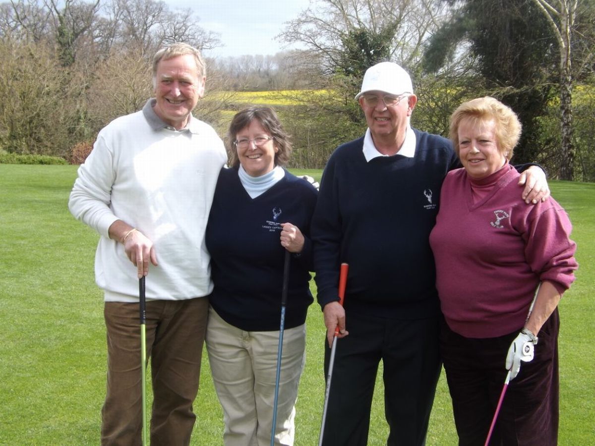 GOLF: Ken drives off in style