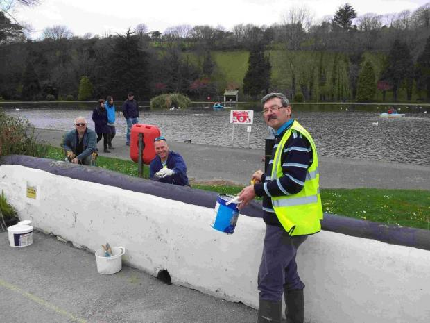 Rotary club members paint the town white in Helston