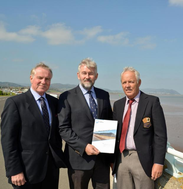 This is The West Country: JOHN Clyde-Smith, Nick Higgins and Stephen Pickard, directors of LongBay Seapower. PHOTO: Somerset News Service.