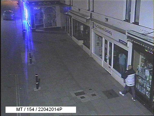 Police appeal: Criminal damage to Minehead Costa