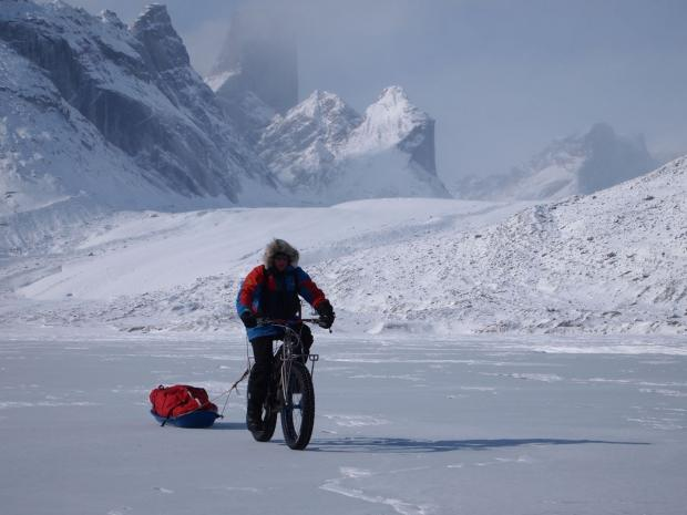 Ben Rockett on his cycle challenge across Baffin Island in the Arctic.