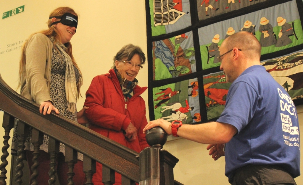 Museum teams up with charities to welcome visually impaired