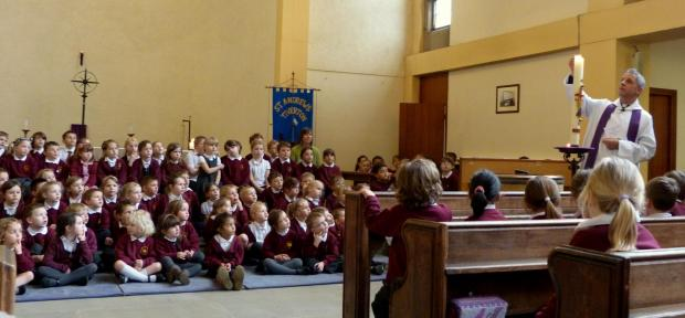 Easter service at Tidcombe Primary
