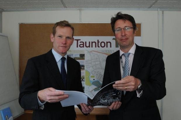 This is The West Country: MP Jeremy Browne, with Brendan Cleere of Taunton Deane Council.