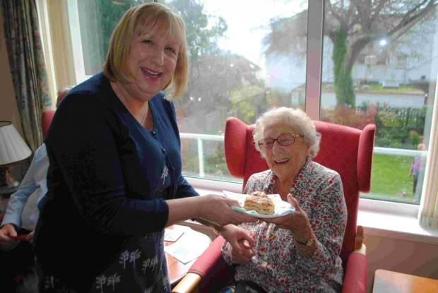 Hot cross buns at Abbeyfield retirement home open day