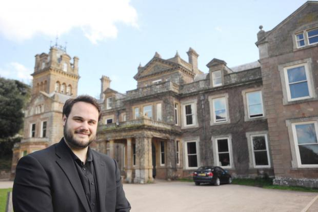 TOMAS Yardley outside the Centre for Young Musicians at Hestercombe.