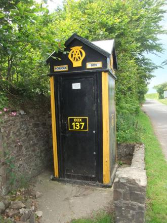THE AA box on Porlock Hill. PHOTO: Nigel Pratt.
