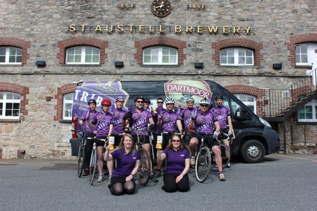 This is The West Country: Brewery team ready for 70 pub 280-mile charity cycle challenge