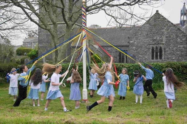 Maypole dancing marks arrival of spring: PICTURES