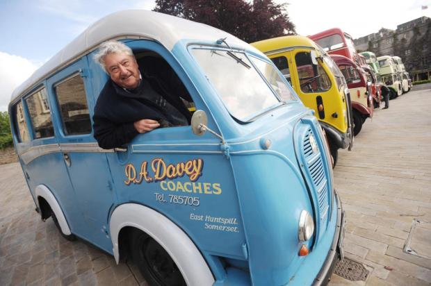 This is The West Country: Pete Davey with his Austin K8 12-seater mini coach