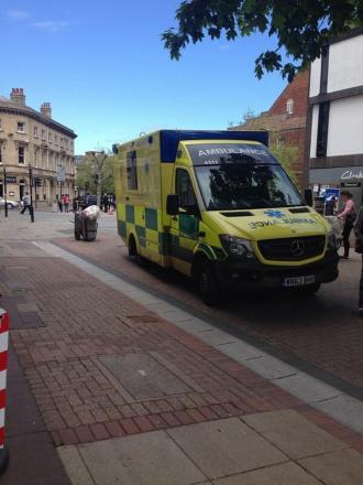 Shopper treated for fall in Taunton town centre