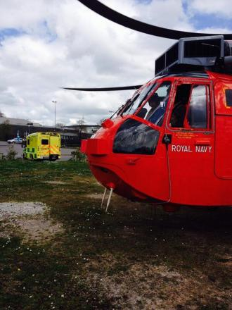 771NAS search and rescue crew based at Culdrose lifted two casualties with major injuries to Derriford, Plymouth