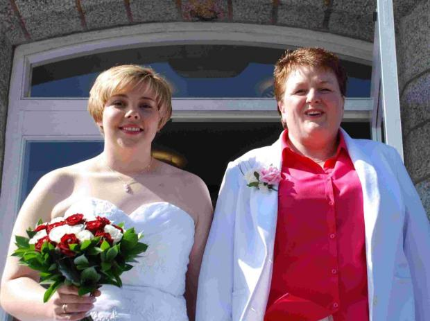 Couple 'over the moon' at Falmouth's first same-sex marriage