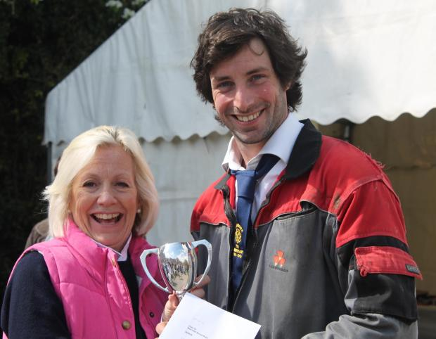 MP Tessa Munt hands out the prize to the impressive James Hole