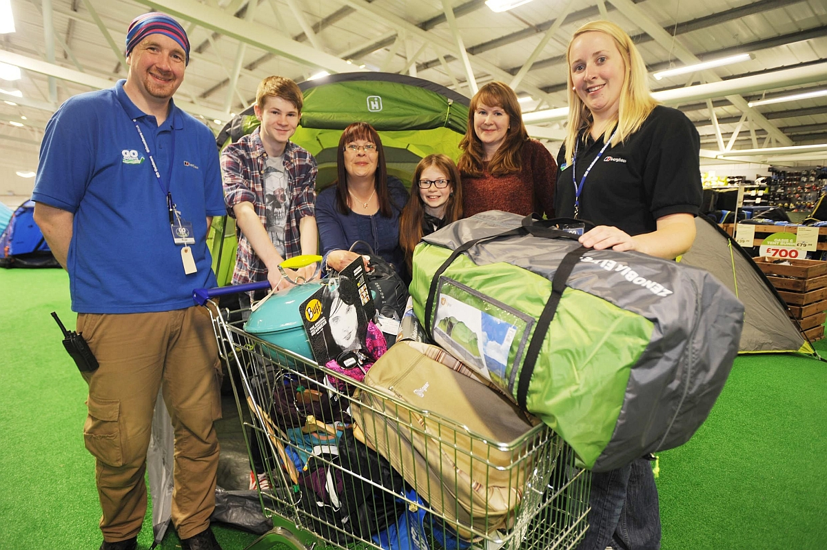 County Gazette competition winner scoops camping gear from Go Outdoors