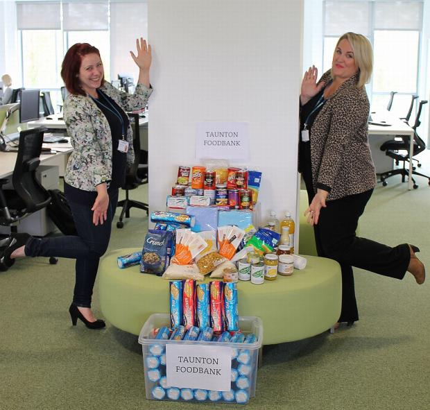 Taunton Food Bank stocked up thanks to generous Knightstone Housing donation