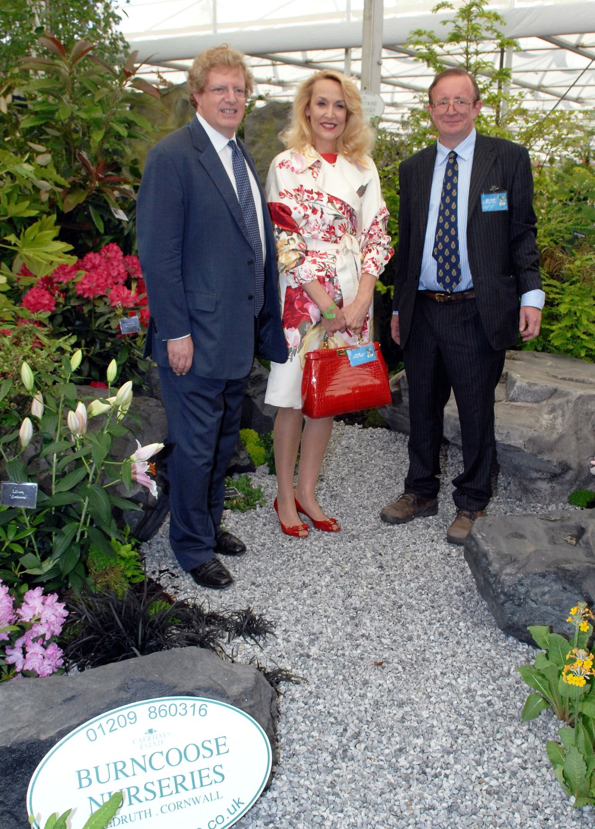 Chairman and Chief Investment Officer of Terra Firma, Guy Hands, Prince's Trust Ambassador, Jerry Hall and Owner of Burncoose Nurseries, Charles Williams.