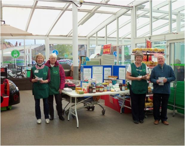 Some of the team who staffed the Foodbank stand at ASDA, from left, Anne Crockford, Jenny Bodily, Ann Barnard and John Bodily.